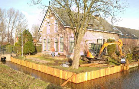Houten damwand Haarlem